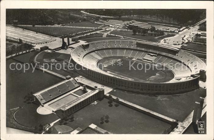 Stadion Reichssportfeld Olympia Stadion Berlin Fliegeraufnahme  Kat. Sport