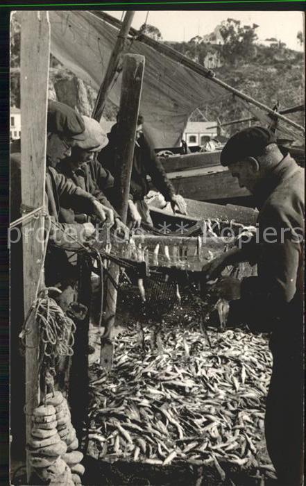 Fischerei Fischer Fisch Blanes Costa Brava Kat. Handwerk