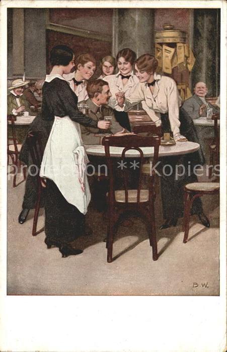 Wennerberg Brynolf Kriegspostkarte Nr. 11 Der Stammgast  Kat. Kuenstlerkarte