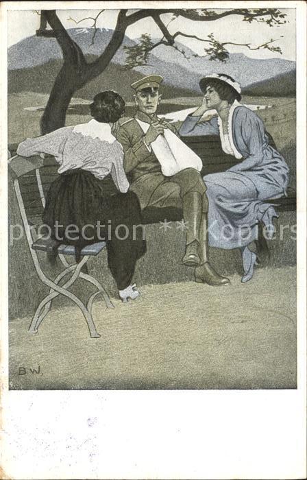 Wennerberg Brynolf Kriegspostkarte Nr. 3 Daheim  Kat. Kuenstlerkarte