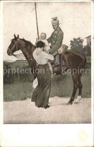 Wennerberg Brynolf Kriegspostkarte Nr. 1 Abschied  Kat. Kuenstlerkarte