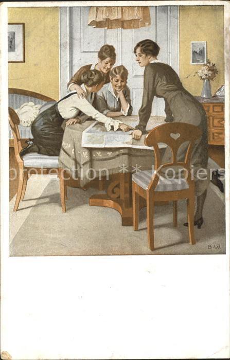 Wennerberg Brynolf Kriegspostkarte Nr. 6 Strategie  Kat. Kuenstlerkarte