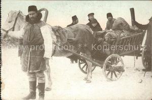 Typen Russisch Polen Pferdewagen Winter  Kat. Typen