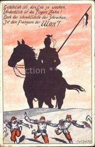 Militaria Ulaner Carl Diehl Karikatur