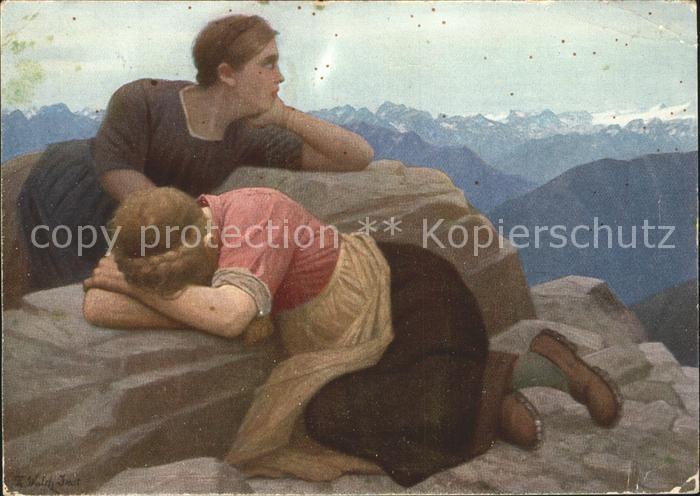 61751798 K?nstlerkarte Thomas Walch Verlorene Heimat S?d-Tirol  Thomas Walch Verlorene Heimat S?d-Tirol  Alte Ansichtskarte Post