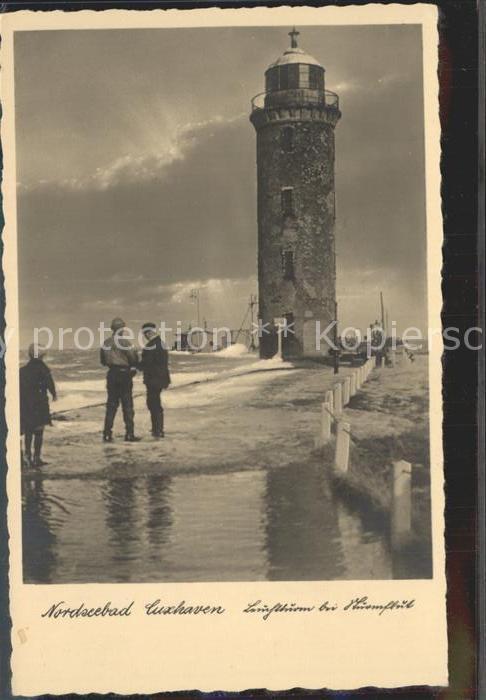 Leuchtturm Lighthouse Sturmflut Cuxhaven  Kat. Gebaeude