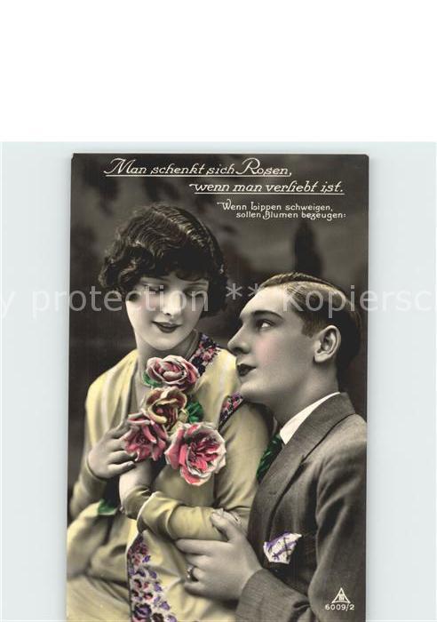 Foto PH Nr. 6009 2 Poesie Man schenkt sich Rosen wenn man verliebt ist  Kat. Fotografie