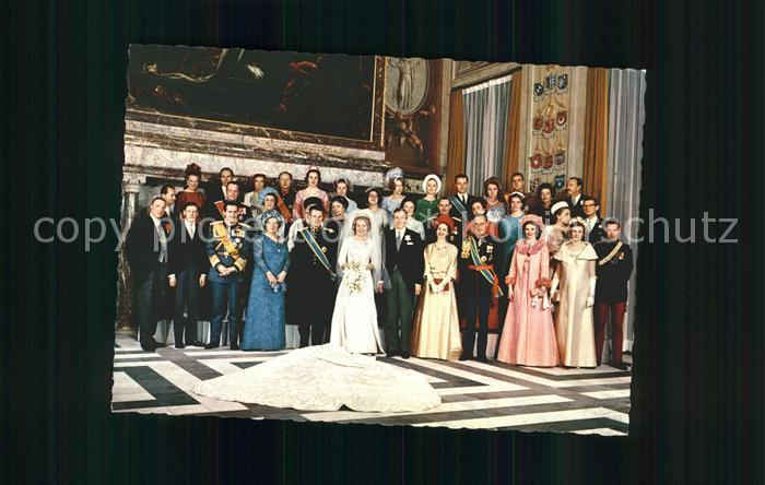 Adel Niederlande Hochzeit Prinzessin Beatrix Prinz Claus Gruppenfoto Kat. Koenigshaeuser