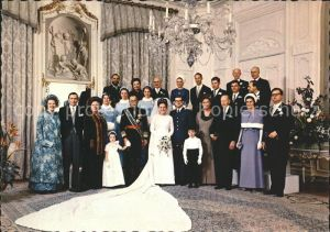 Adel Niederlande Hochzeit Prinzessin Margriet Pieter van Vollenhoven Gruppenfoto Kat. Koenigshaeuser