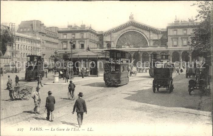 Strassenbahn Paris La Gare de l Est  Kat. Strassenbahn