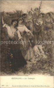 Kuenstlerkarte Osterlind Les Vendanges Nr. 107 Winzerinnen Traubenernte Weinlese Kat. Kuenstlerkarte