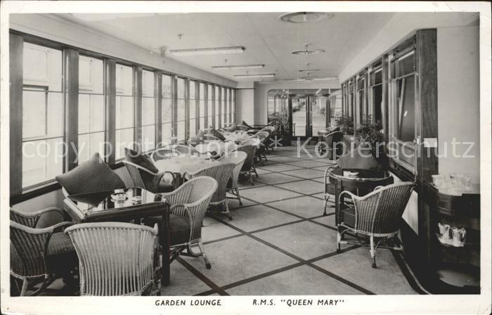 Schiffe R.M.S. Queen Mary Garden Lounge Kat. Schiffe