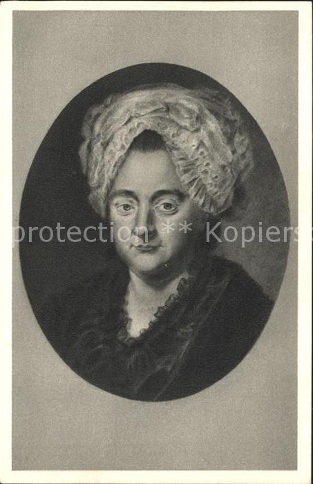 Goethe Johann Wolfgang von Catharina Elisabeth Dichters Mutter  Kat. Dichter