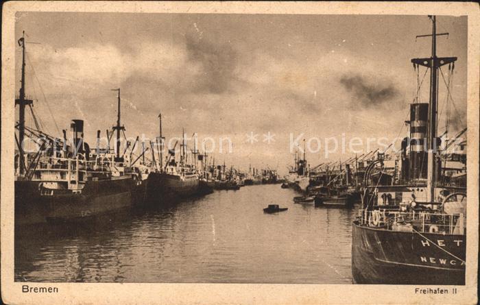 Hafenanlagen Bremen Freihafen II  Kat. Schiffe