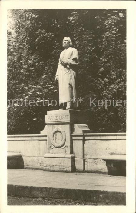 Liszt Franz Komponist Denkmal Weimar  Kat. Musik