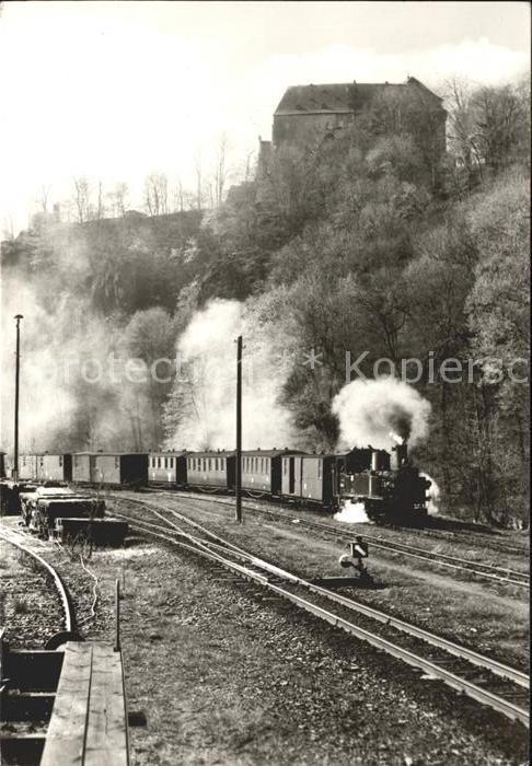 Lokomotive Schmalspurbahn Wolkenstein Joehstadt Kat. Eisenbahn