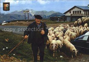 Hirte Ziegen Col du Soulor Kat. Landwirtschaft