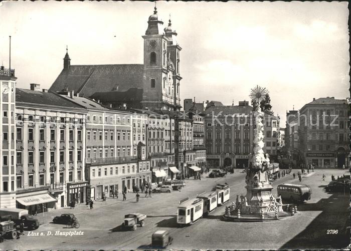 Strassenbahn Linz an der Donau Hauptplatz  Kat. Strassenbahn