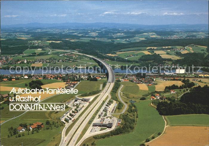 Autobahn Tankstelle Rasthof Donautal West Passau Kat. Autos