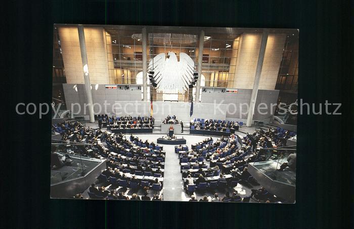 Politik Plenarsaal Reichstagsgebaeude  Kat. Politik