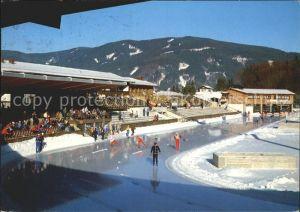 Eislaufen Schlittschuhlaufen Eisschnelllaufbahn Stadion Inzell  Kat. Sport
