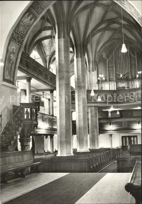 Kirchenorgel Kirche Sayda Erzgebirge Kat. Musik