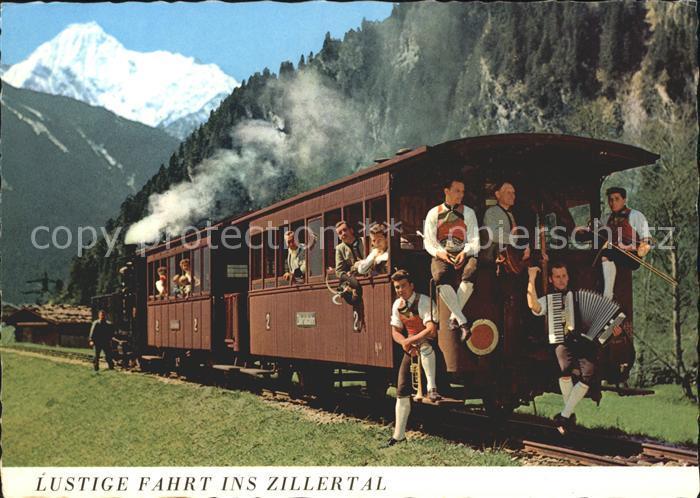 Musikanten Akkordeon Trompete Posaune Zillertalbahn  Kat. Musik