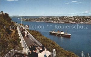 Dampfer Oceanliner Quebec Canada Promeade des Gouverneurs  Kat. Schiffe