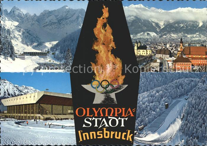 Olympia Innsbruck Axamer Lizum Olympia Eisstation Sprungschanze  Kat. Sport
