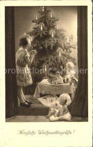 Puppen Kind Weihnachten Weihnachtsbaum Kat. Spielzeug