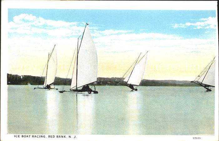 Segelboote Ice Boat Racing Red Bank N.J. Kat. Schiffe
