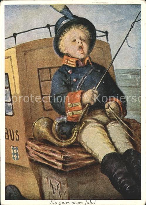 Kaulbach Hermann Der kleine Postillon Postkutsche Wiechmann Verlag Nr. 7253 Kat. Kuenstlerkarte