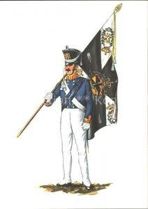 Militaria Infanterie Fahnentraeger Preussen um 1815 Kat. Militaria