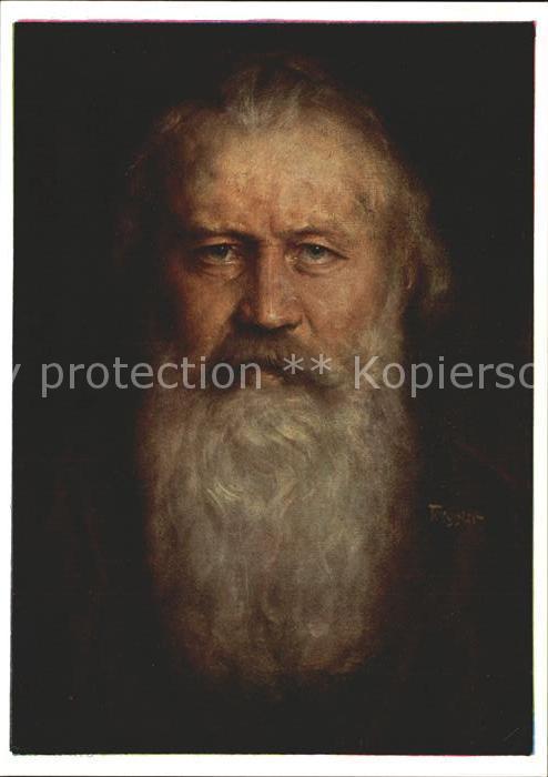Kuenstlerkarte H. Torggler Johannes Brahms Nr. 7080 Kat. Kuenstlerkarte