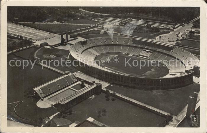 Stadion Olympia Stadion Reichssportfeld Fliegeraufnahme Kat. Sport