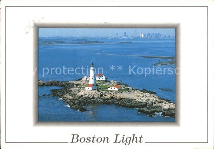 Leuchtturm Lighthouse Boston Light Massachusetts Kat. Gebaeude