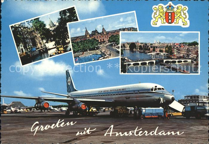 Flugzeuge Zivil KLM Royal Dutch Airlines Amsterdam Kat. Airplanes Avions