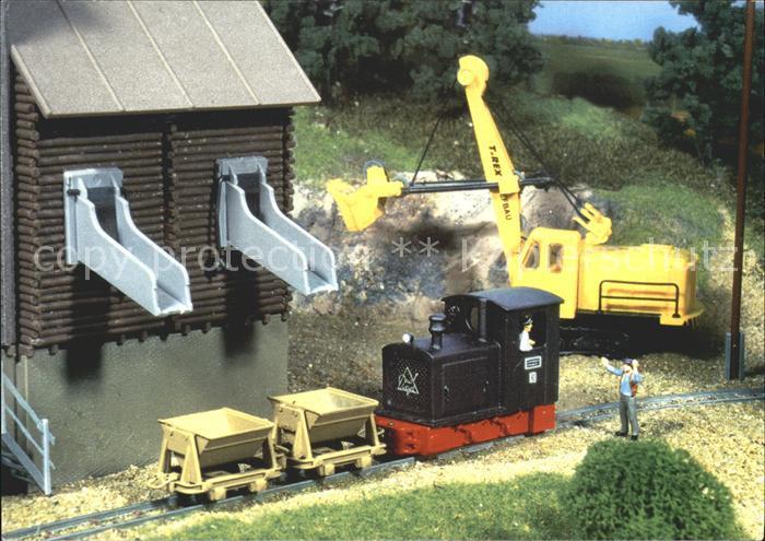 Modellbau eisenbahn ladungsverkehr schotterwerk kat