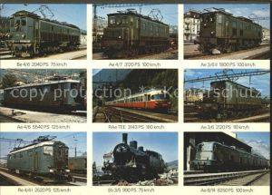 Lokomotive Schweizer Lokomotiven Ae 3 6 II Eb 3 5 Re 4 41 Ae 4 6 Kat. Eisenbahn