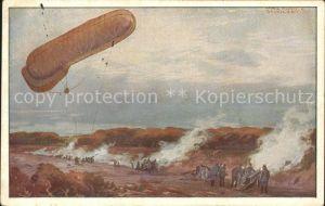 Zeppelin Fesselballon Artillerie Hans Rudolf Schulze Deutscher Luftflotten Verein Kat. Flug