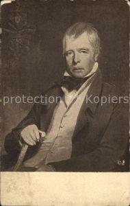 Kuenstlerkarte Charles R. Leslie Sir Walter Scott Kat. Kuenstlerkarte