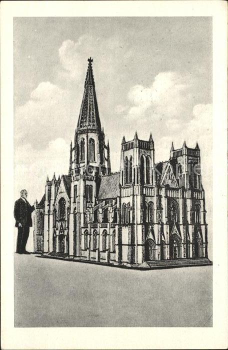 Kuriosum Modell Kathedrale New York Streichholz  Kat. Unterhaltung