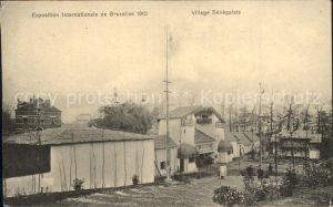 Exposition Universelle Bruxelles 1910 Village Senegalais Kat. Expositions