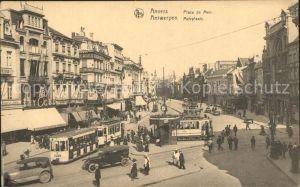 Strassenbahn Anvers Place de Meir  Kat. Strassenbahn