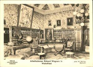 kf76714 Wagner Richard Komponist Arbeitszimmer Wahnfried Kat. Musik