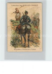 Werbung Reklame Biscuits Pernot Chasseur a Cheval Litho Kat. Werbung