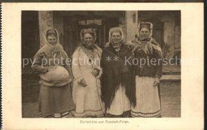 Trachten Frauen Russisch Polen  Kat. Trachten