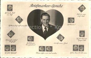 Briefmarkensprache Herz Mann  Kat. Philatelie