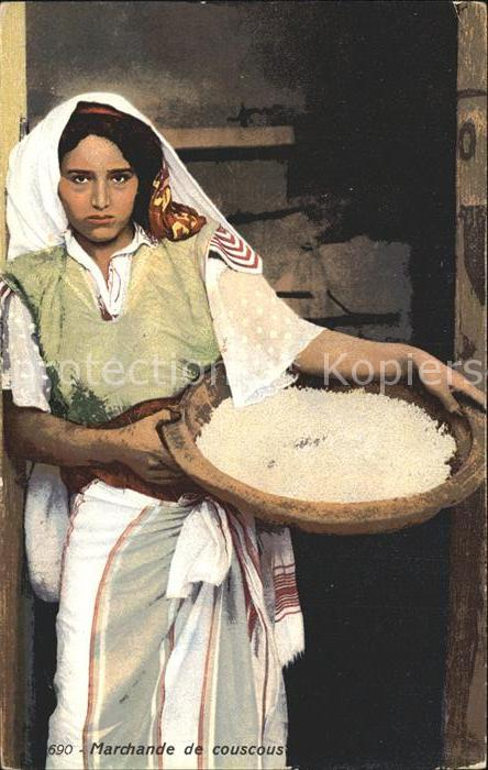 Typen Arabien Marchande de couscous