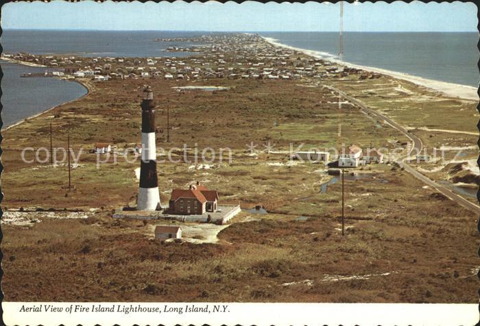 Leuchtturm Lighthouse Fire Island Long Island Aerial View  Kat. Gebaeude